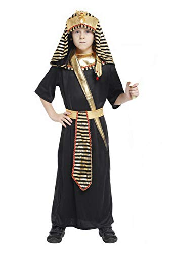 Brcus Boys Kids Egyptian Pharaoh Halloween Cosplay Costume Tunic Role Play Dress up Large(for Height 120-130cm) -