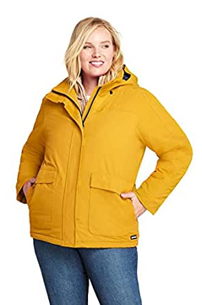 Lands' End Women's Plus Size Hooded Squall Winter Jacket at Amazon Women's Coats Shop