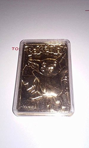 Limited Edition Red 23K Gold Plated Pikachu #25 Trading Card in Pokeball Novelty ()