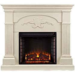 SEI Southern Enterprises Sicilian Harvest Electric Fireplace, Ivory Finish