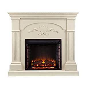 SEI FE9275 Southern Enterprises Sicilian Harvest Electric Fireplace, Ivory