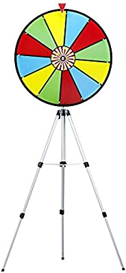 24 Inch Color Dry Erase Prize Wheel with Stand