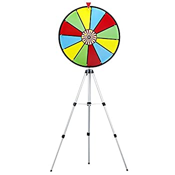 Image of Casino Prize Wheels MIDWAY MONSTERS 24' Color Dry Erase Prize Wheel with Stand
