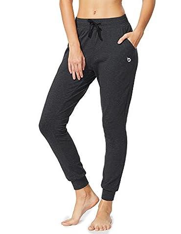 Baleaf Women's Active Yoga Lounge Sweat Pants with Pockets Charcoal Size XL (Womens Adventure Pants)