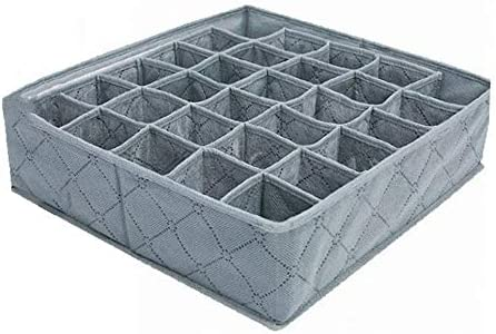 30 celdas de bambú de bambú ropa interior calcetines calzoncillos organizador caja de almacenamiento de polipropileno no tejido caja separada 11L: Amazon.es: Bebé