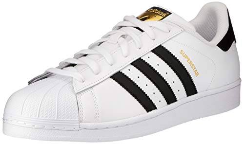 adidas Originals Men's Superstar Running Shoe, Core Black/White, (10 M US)