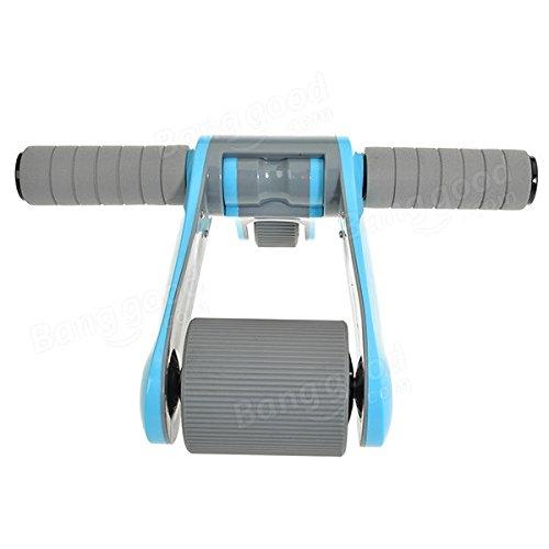Bazaar Roues de roulement double équipement abdominal pliant à rouleaux d'alimentation de salle de fitness de musculation