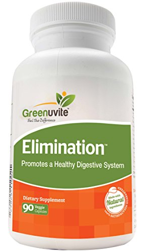 Greenuvite Elimination Detox - Digestive support 90 veggie capsules.