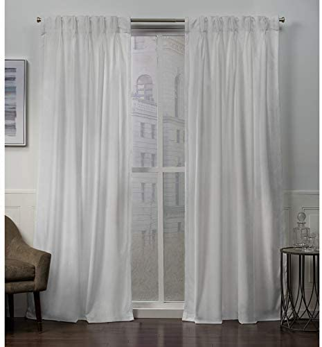 Exclusive Home Curtains Velvet Pinch Pleat Curtain Panel