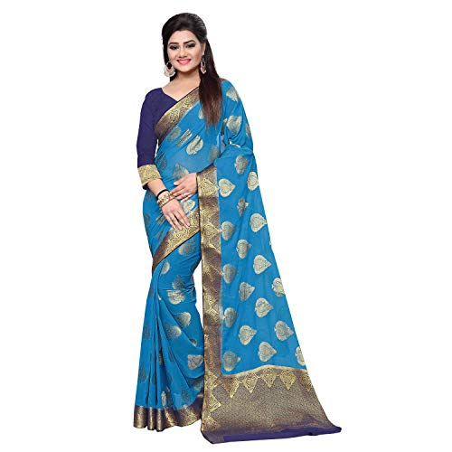arars chiffon silk saree kanjivaram kanchipuram pattu style, wedding collection colour blue -