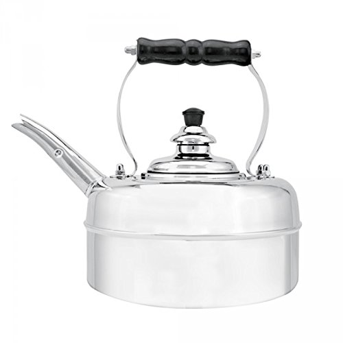 Simplex Teakettles Solid Mirror Whistling Kettle with Brass Fixings, Chrome by Simplex teakettles
