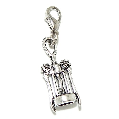 Jewelry Monster Clip-on 'Wine Corkscrew Opener' Charm Bead 07753