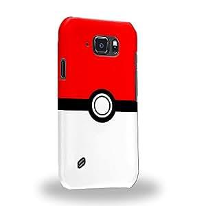 Case88 Premium Designs Pokemon Pokemon Poke Ball Carcasa/Funda dura para el Samsung Galaxy S6 Active