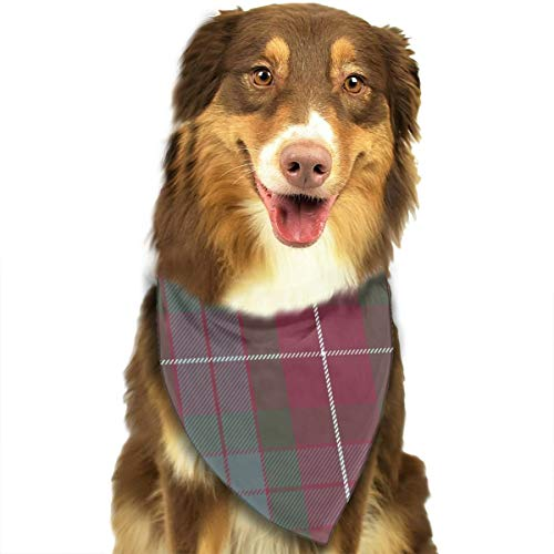 OURFASHION Fraser Red Weathered Tartan Bandana Triangle Bibs Scarfs Accessories for Pet Cats and Puppies