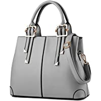 PU leather simple style shoulder bag Grey