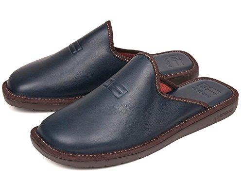 Navy Pelle Blu Pantofole Nordikas In gq7pHydw