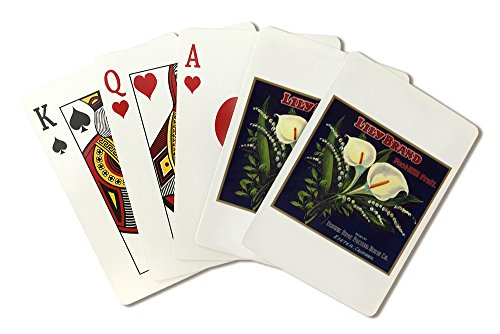 Lily Orange Label (Playing Card Deck - 52 Card Poker Size with Jokers)