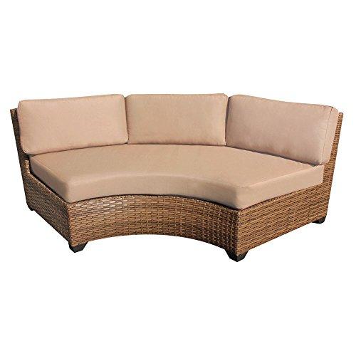 TKC Laguna Curved Armless Patio Sofa (Set of 2)