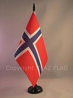 TISCHFLAGGE NORWEGEN 21x14cm flaggen AZ FL NORWEGISCHE TISCHFAHNE 14 x 21 cm