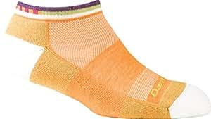 Darn Tough Merino Wool No-Show Fast Back Light Cushion Running Sock Tangerine 2 Pack Large