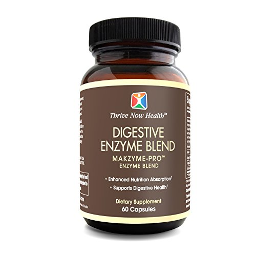 (Thrive Now Health - Digestive Enzyme Blend and Probiotic Supplement, Natural Multienzyme Promotes Healthy Digestion, Helps Relieve Gas, Bloating, IBS Symptoms (60 Capsules))