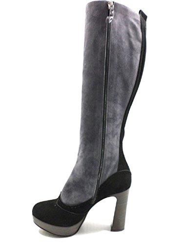 Dei Mille, Damen Stiefel & Stiefeletten  grigio / nero