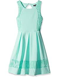 Zunie Big Girls' All Over Textured Knit Pleated Skater Dress