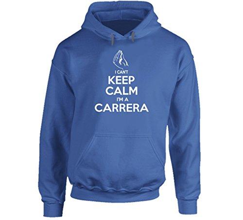 I Can't Keep Calm I'm a Carrera Italian Name Worn Look Hoodie 2XL Royal - Italian Carreras