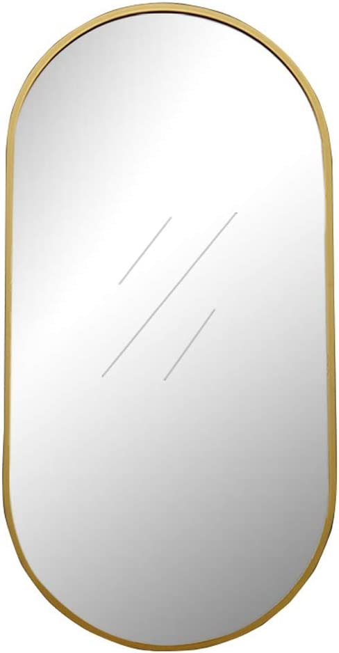LSN Mirrors,Oval Large Modern Metal Frame Wall Mirror, for Bedroom or Bathroom,Border Thickness 4Cm,60x100cm,60x100cm