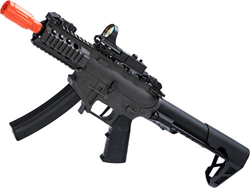 King Arms Airsoft - Evike King Arms PDW 9mm SBR Airsoft AEG Rifle (Color: Grey/Shorty)