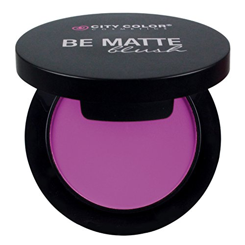 CITY COLOR COSMETICS Be Matte Blush | Blendable Mineral Makeup Powder (Glass Lip Gloss Limited Edition)