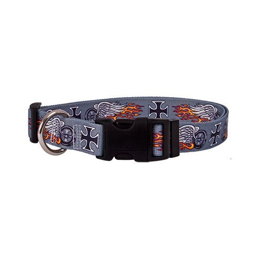 Biker Tattoo Dog Collar - Size Extra Small 8