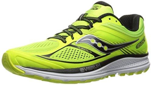 Saucony Men's Guide 10 Running Shoes, Gelb (Citron/Black), 10.5 UK