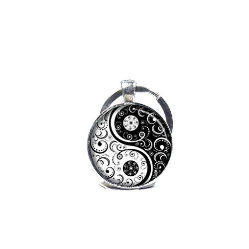 Youkeshan Ying Yang símbolos Llavero Llavero con diseño de ...