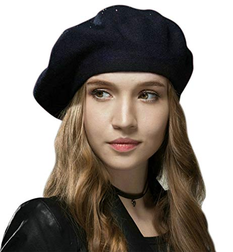 Sumolux Women Beret Hat French Wool Beret Beanie Cap Classic Solid Color Autumn Winter Hats by Sumolux