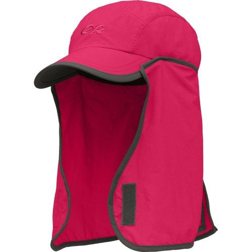 Outdoor Research Kids' Sun Runner Sun Hat, Khaki/Dark Grey,