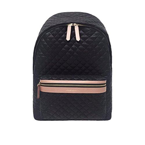 Archer Brighton Chloe Lightweight Quilted Nylon Laptop Backpack (Black)