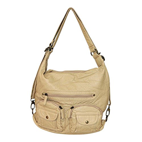 Sand Backpack Both Leather Vegan Soft and Convertible Bag Shoulder in Purse vAHPqRZ