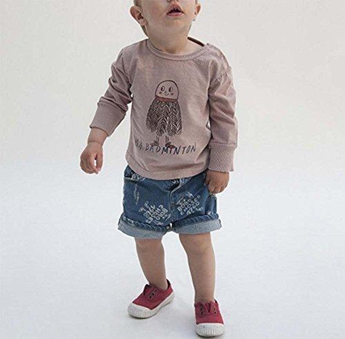 mezclilla niños de cortos años 140 Fashion para 8 de Pantalones B 100 Jeans con Fashion completo 3 cm estampado q0Ew4