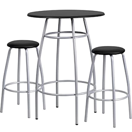 Amazon flash furniture bar height table and stool set kitchen flash furniture bar height table and stool set watchthetrailerfo
