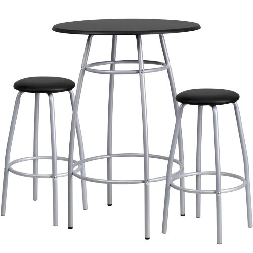 - Flash Furniture Bar Height Table and Stool Set - YB-YJ922-GG