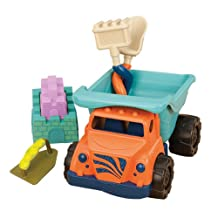 Battat B Coastal Cruiser Sand Truck and Sand Tools Set, One Color