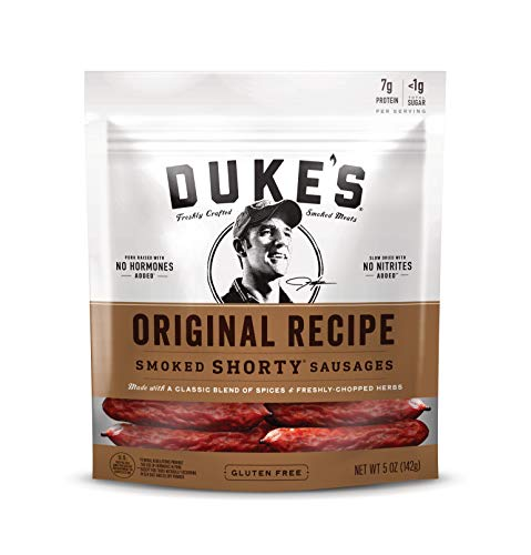 Duke's Original Recipe Smoked Shorty Sausages, 5 Ounce, Pack of 8