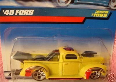 Mattel Hot Wheels 1999 1:64 Scale Yellow 1940 Ford Truck Die Cast Car Collector #1069 - Truck 1940 Ford