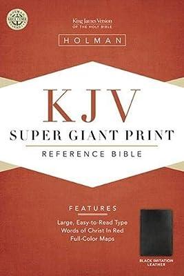 KJV Super Giant Print Reference Bible, Black Simulated Leather (King James Version)