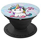 Cute Sitting Unicorn Music Headphones Unicorn Swirl - PopSockets Grip and Stand for Phones and Tablets