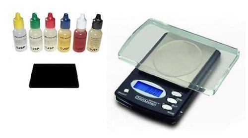 Electronic Jewelry Gram Scale + 6 PCS Gold/silver/platinum Acid Tester Test Kit