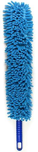 Jet Clean Chenille Microfiber Flat Hand Duster-Dust Appliances, Ceiling Fans, Blinds, Furniture, Shutters, Cars, Delicate Surfaces-Chenille