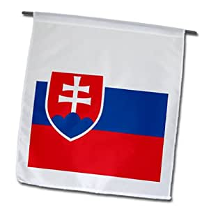 InspirationzStore Flags - Flag of Slovakia - Slovak white blue red stripes - shield coat of arms double cross. Eastern Europe - 18 x 27 inch Garden Flag (fl_158429_2)