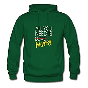 Women All_you_need_is_money Green Custom Hot Off-the-record Hoodies Shirts X-large